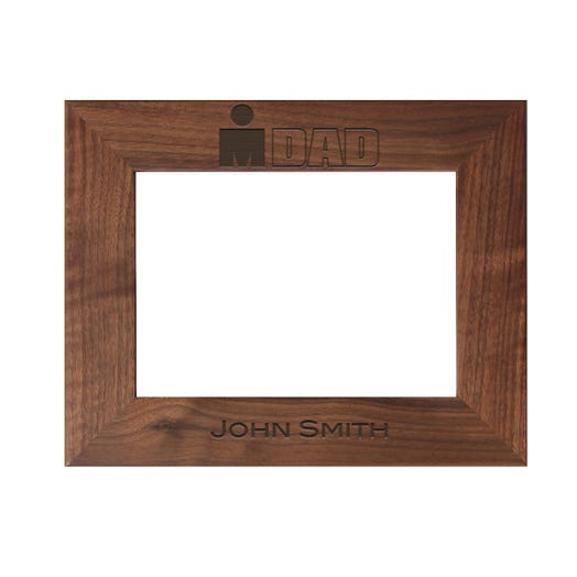 IRONDAD Personalized Photo Frame - Walnut