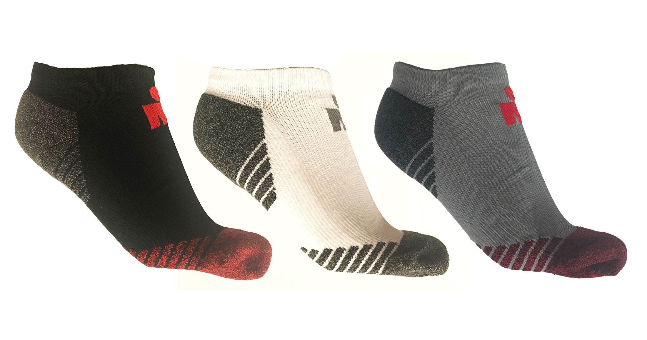 IRONMAN PR No Show Run Sock - 3 Pack