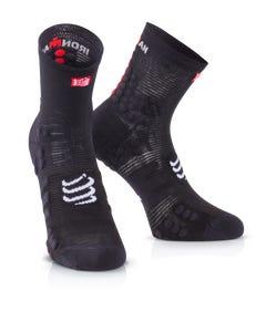 IRONMAN COMPRESSPORT Pro Racing Socks V3 Run High - Black