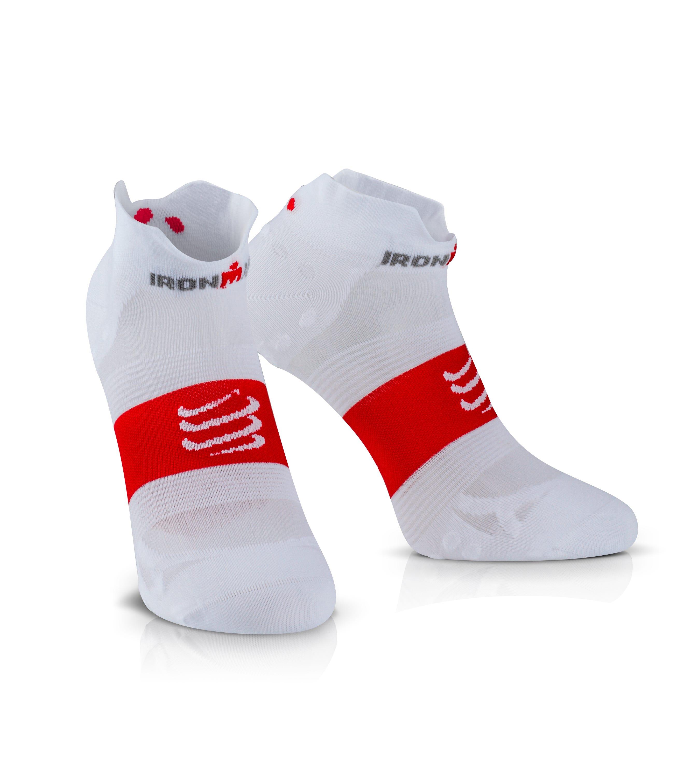 IRONMAN COMPRESSPORT Pro Racing Socks V3 Ultralight Low - White 49c36c1d022