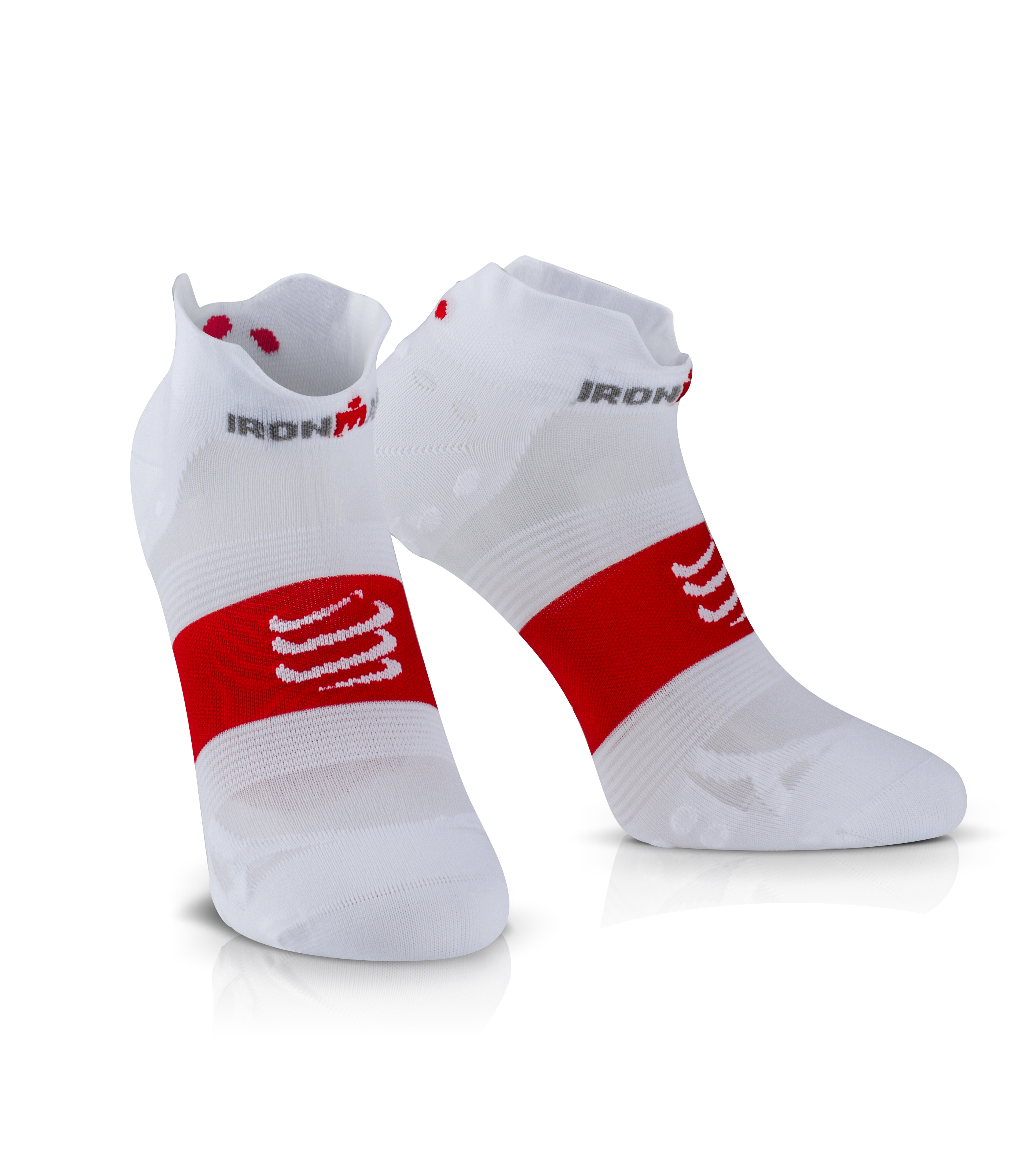 IRONMAN COMPRESSPORT Pro Racing Socks V3 Ultralight Low - White