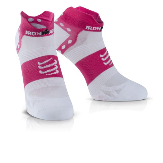 IRONMAN COMPRESSPORT Pro Racing Socks V3 Ultralight Low - Pink