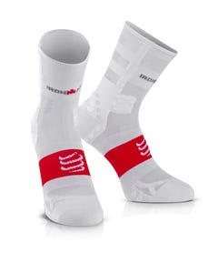 IRONMAN COMPRESSPORT Pro Racing Socks V3 Ultralight High - White