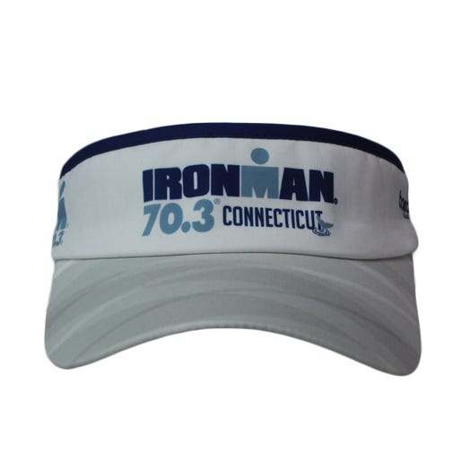 IRONMAN 70.3 CONNECTICUT EVENT VISOR - WHITE