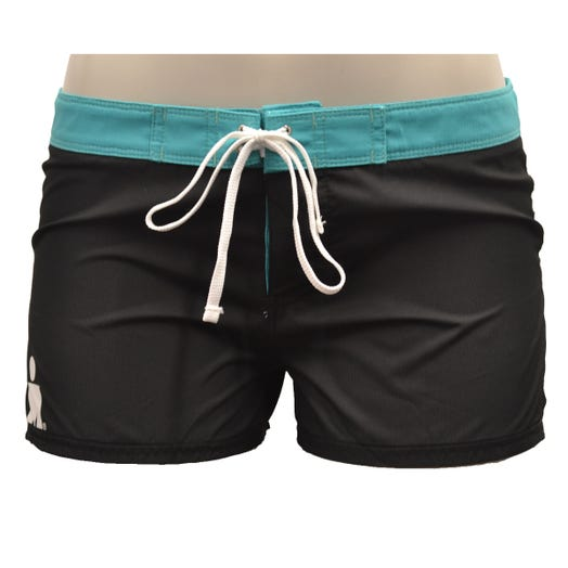 IRONMAN ROKA Women's Kona Boardshorts- Black/Teal