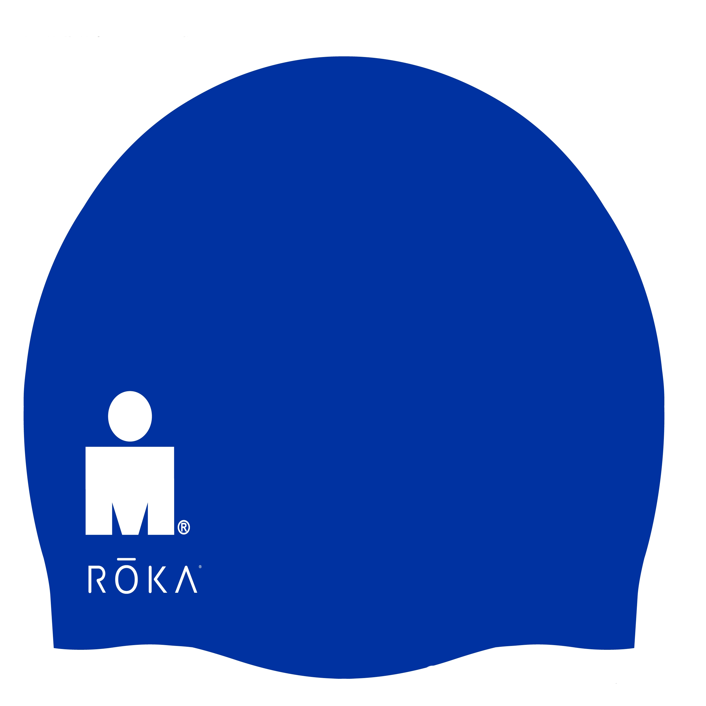 IRONMAN ROKA Silicone Swim Cap - Blue