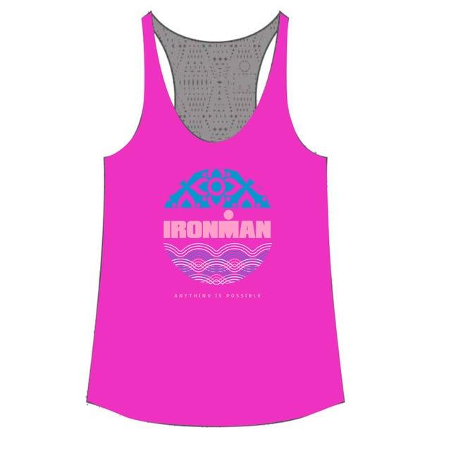 IRONMAN Women's Fuchsia Lace Tank