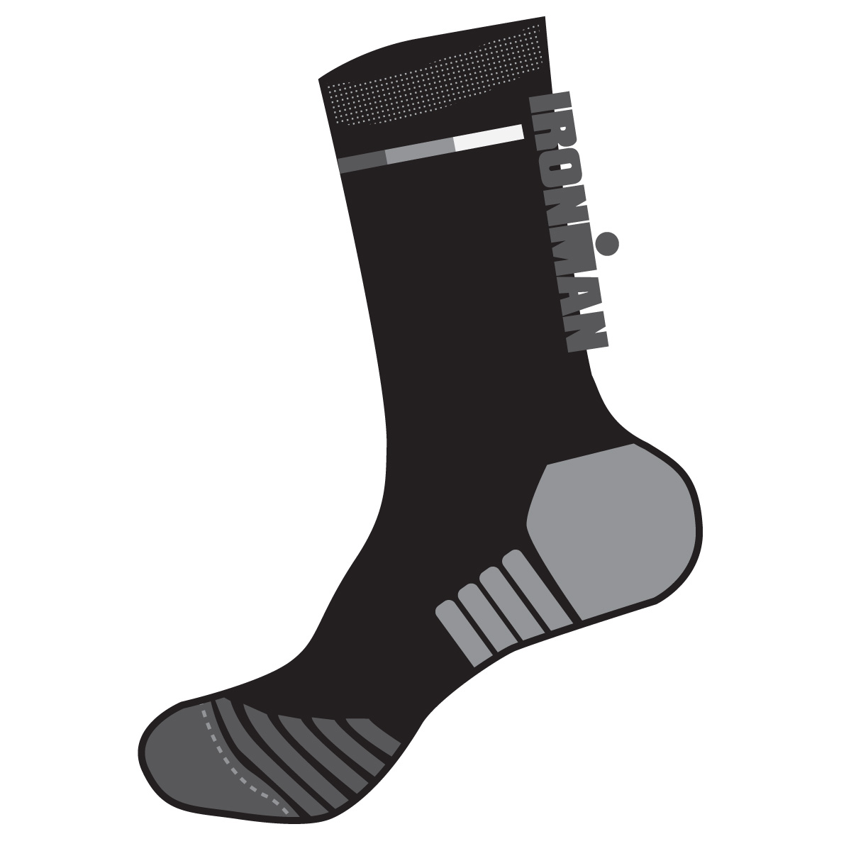 IRONMAN Run Crew Sock - IM Tonal Black - Large