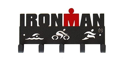 IRONMAN Swim Bike Run Medal Hanger - 5 Hooks
