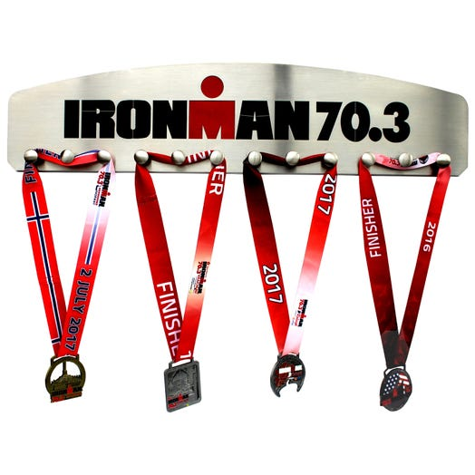 IRONMAN 70.3 Stainless Steel Medal Hanger 12 knobs