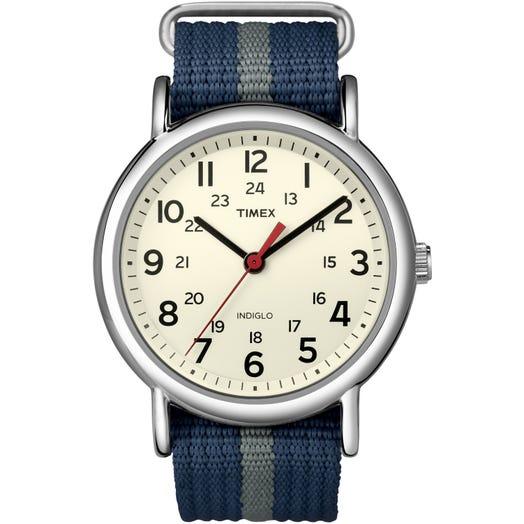 IRONMAN Timex Weekender Watch- Blue/Grey