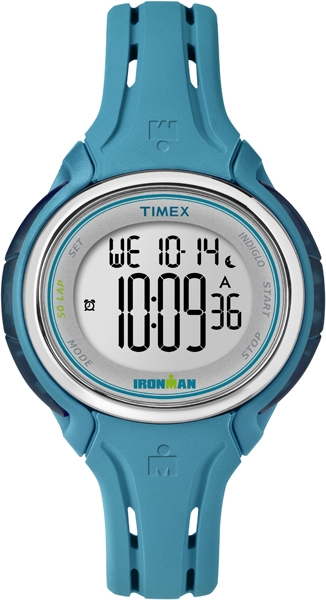 IRONMAN Timex 50 Lap Mid Size Sleek Watch - Blue