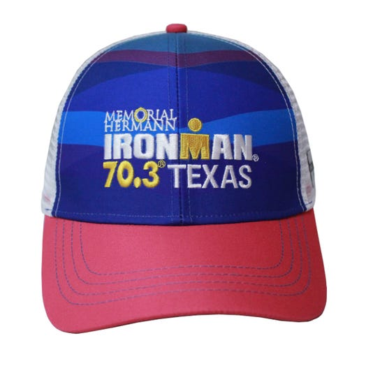 IRONMAN 70.3 Texas 2019 Event Trucker Hat - Blue/Pink