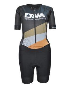 IRONMAN Women's All World Athlete Short Sleeve Tri Racesuit - Black