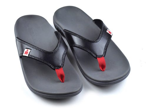 IRONMAN Women's HOA Sandals - Black with Rosso