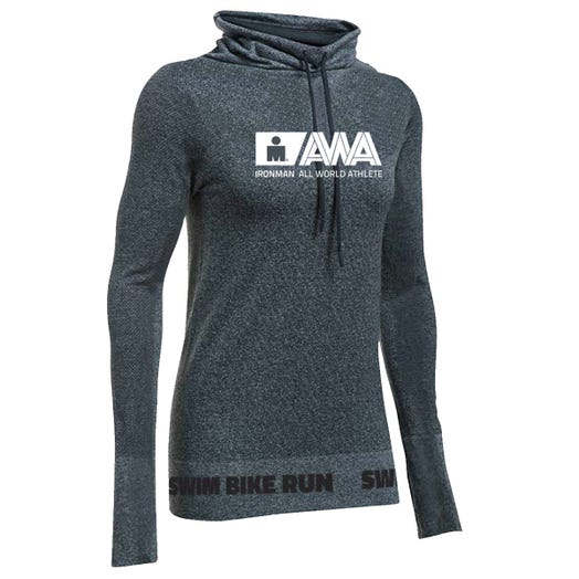 IRONMAN WOMEN'S AWA BODY MAPPING COWLNECK CHARCOAL