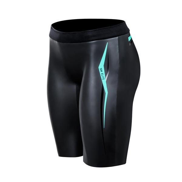 IRONMAN ROKA Women's SIM Elite II Buoyancy Shorts - Black/Blue