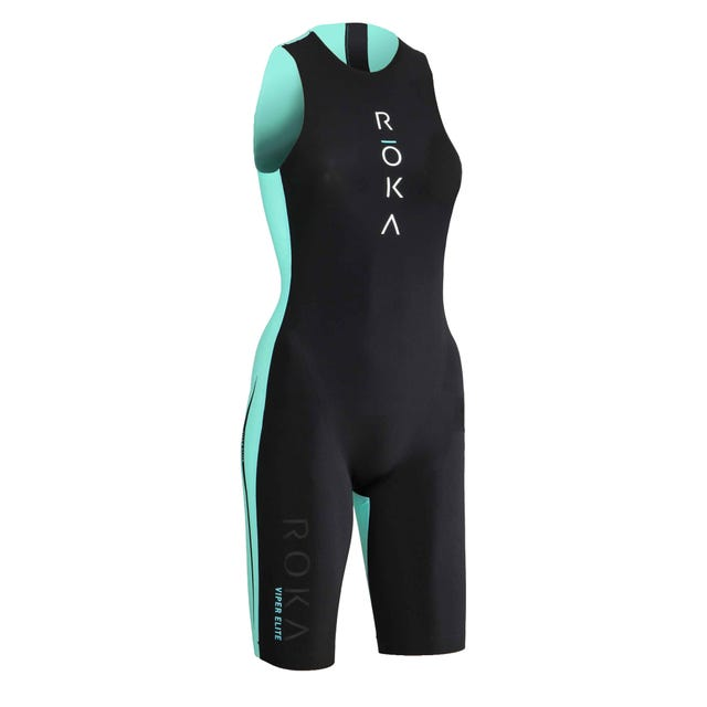 IRONMAN ROKA Women's Viper Elite Swimskin-Black/Subzero