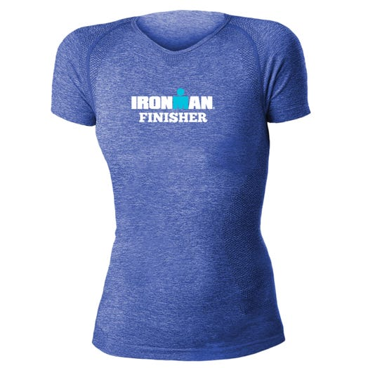 IRONMAN WOMEN'S FINISHER BODY MAPPING SHORT SLEEVE TECH ROYAL