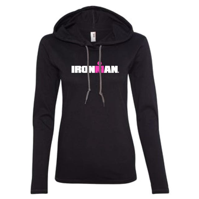 IRONMAN WOMEN'S SPELLOUT LONG SLEEVE TRIBLEND NAVY