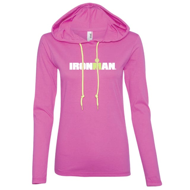 IRONMAN WOMEN'S SPELLOUT LONG SLEEVE TRIBLEND RASPBERRY
