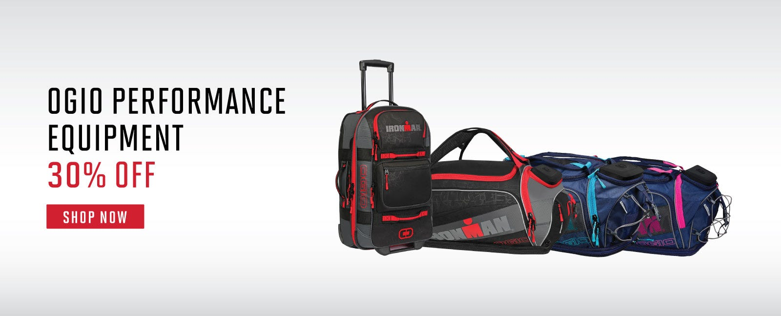 IRONMAN OGIO PERFORMANCE DUFFELS 30% OFF