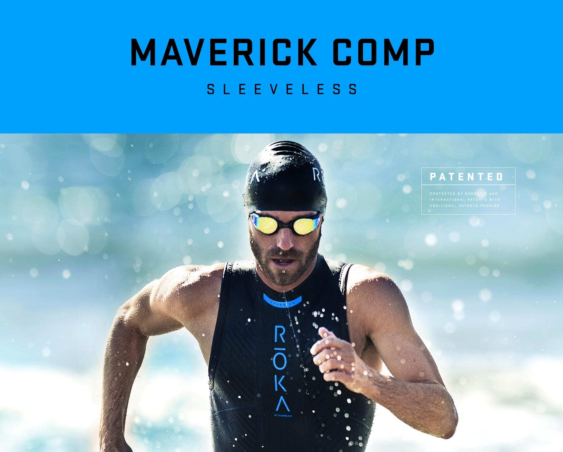 e96ae23d72 IRONMAN ROKA Men s Maverick Comp II Sleeveless Wetsuit. Hover to zoom.  Details
